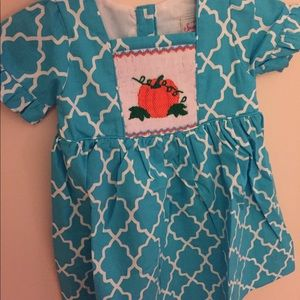 Smocked pumpkin dress